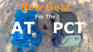 New Gear for the AT & PCT Thru Hike
