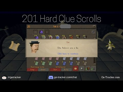 Loot from 200 hard clue scrolls & 98m worth of magpie implings