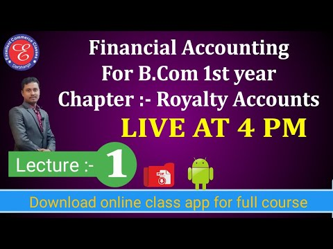 Financial accounting for b.com, Royalty account, #1
