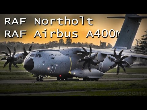 Massive military aircraft departing RAF Northolt | RAF Airbus A400M Atlas short takeoff |
