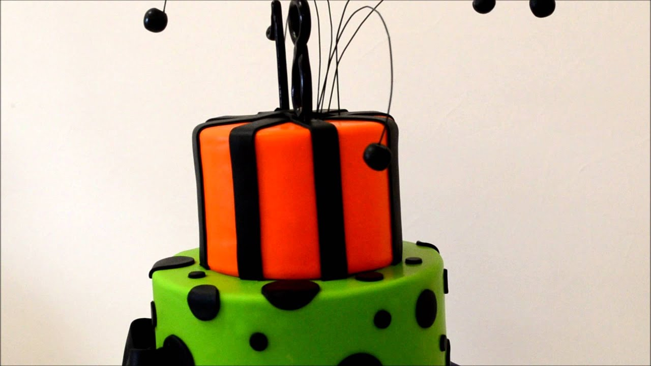 3 Tiers Birthday Cake With Fondant For 18th