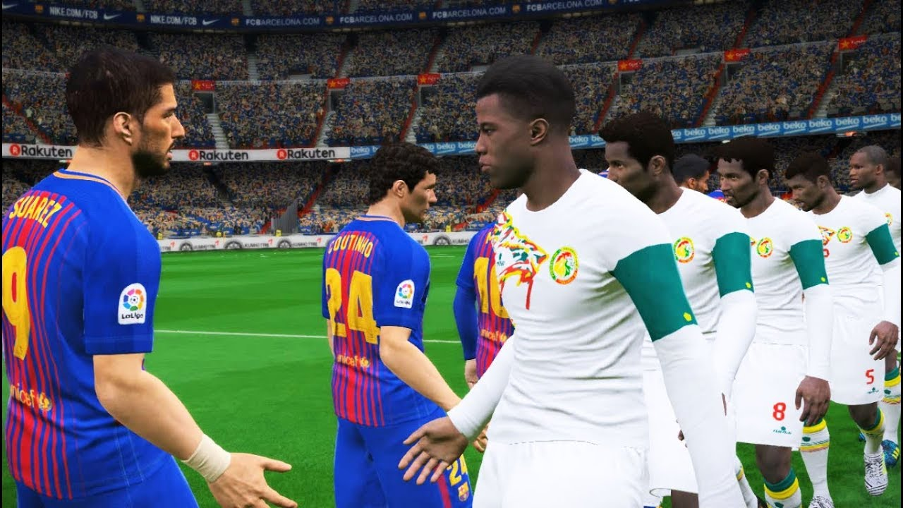 Fc Barcelona Vs Senegal Full Match C Kouyate Best Goal Pes Gameplay Pc