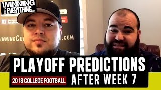 WCE: 2018 College Football Playoff Predictions (after Week 7)
