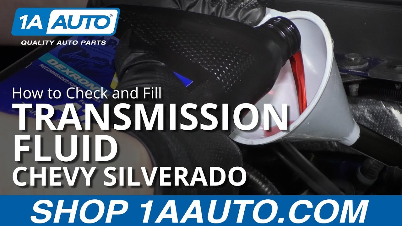 How To Check And Fill Transmission Fluid 14 19 Chevy Silverado
