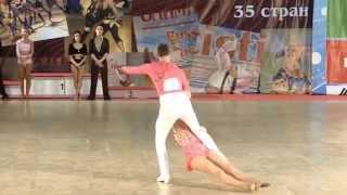 2014 RUSSIA XI. World Dance Olympiad SALSA 1st PLC CEM&MELISA TURKEY
