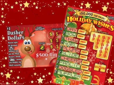WIN! 3 X $3 Holiday Wishes & $1 Reindeer Riches Texas Lottery Scratch Off Tickets