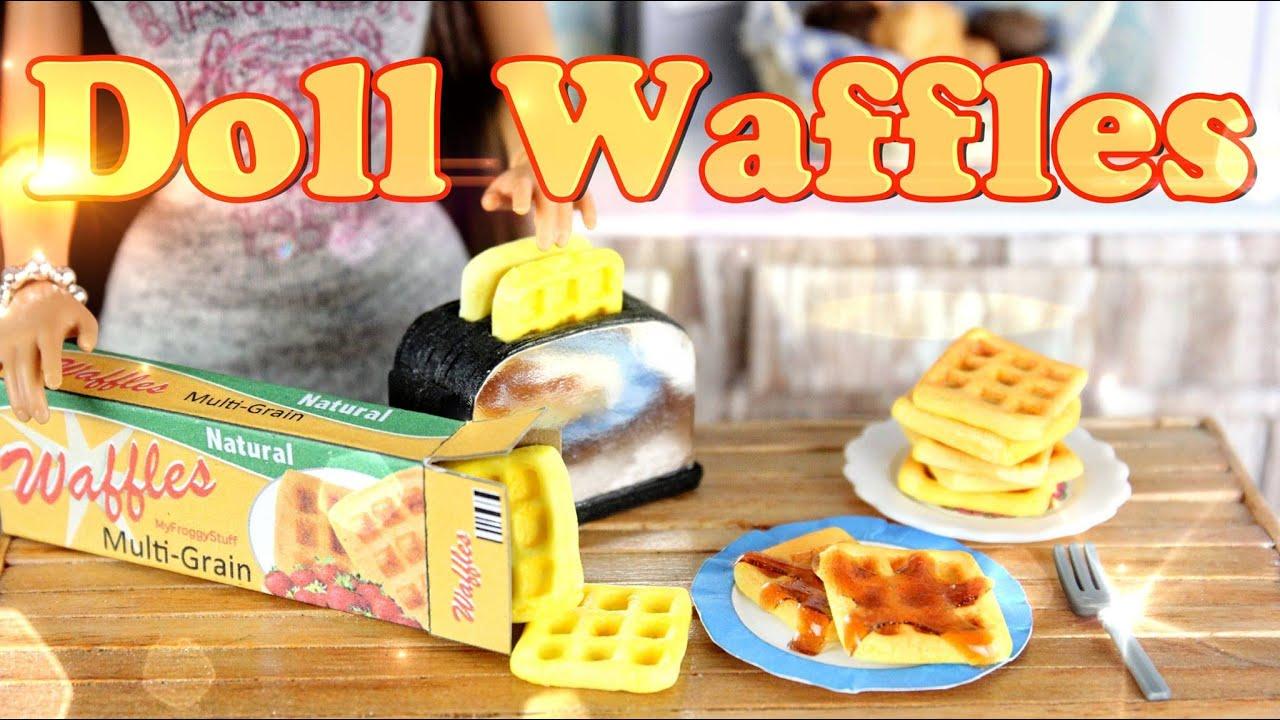 Diy how to make doll food waffles handmade doll breakfast youtube premium ccuart Choice Image
