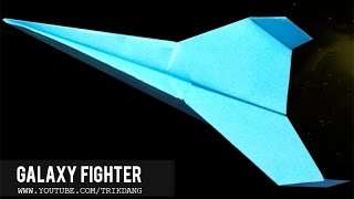 How to make a Paper Airplane that Flies Over 130 ft | Galaxy Fighter ( Short Ver.)