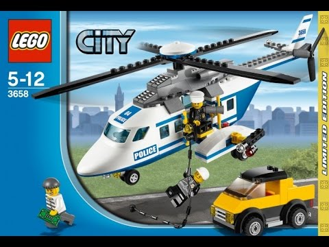 Lego 3658 Police Helicopter City Police Instruction Booklet Youtube