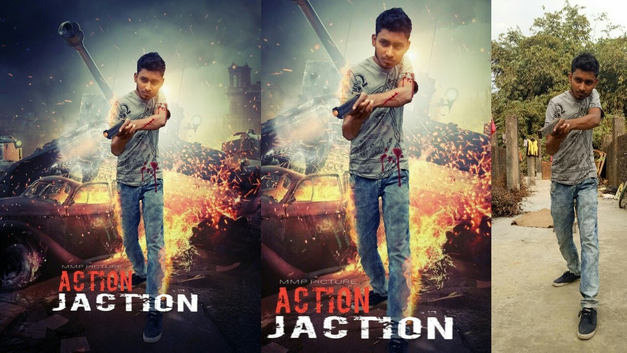 action movie poster design picsart editing tutorial youtube