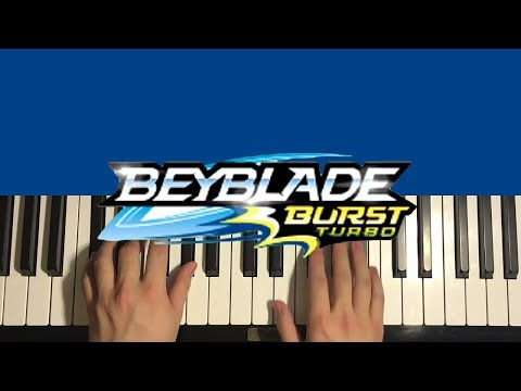 HOW TO PLAY - Beyblade Burst Turbo - Theme Song (Piano Tutorial Lesson)