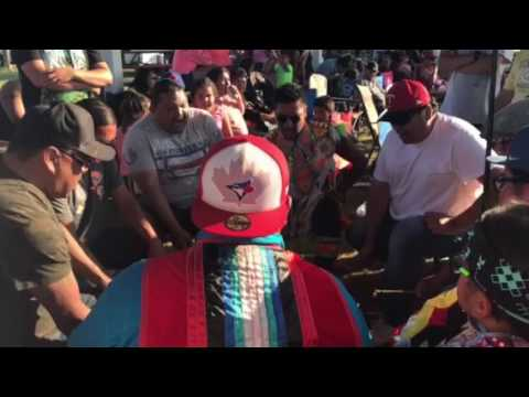Wooden Face Singers at Sioux Valley powwow  2017