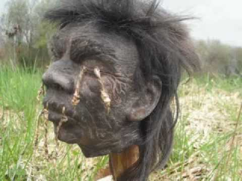 Real Shrunken Head Sculpture
