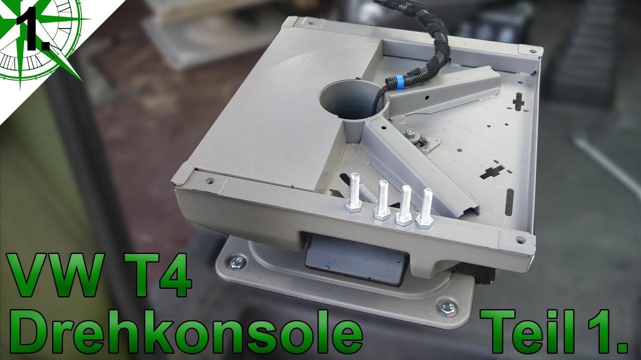 Vw California Camper >> VW T4 Drehkonsole einbauen Teil 1 | vom VW T4 Syncro Transporter zum Camper | # 1. - YouTube