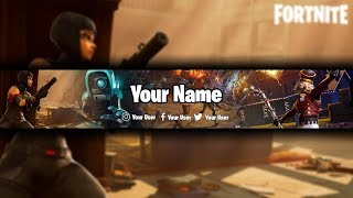 Fortnite ? Fortnite Editable Free Youtube Banner ? Photoshop CS6