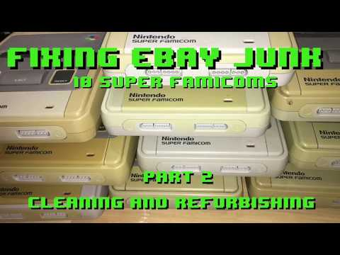 Fixing eBay Junk - 10 Super Famicoms - Part 2 Cleaning & Refurbishing