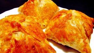 Слоеные пирожки с мясом из готового слоеного теста или аля-самса