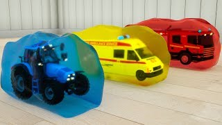 Assembly Learn Colors Street Vehicle in Jelly. Monster Machine…