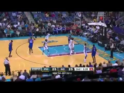 NBA November 7 2012: New Orleans Hornets vs Philadelphia 76ers Highlights