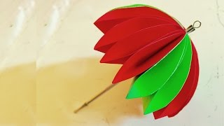 Paper Umbrella kids craft | Arts and crafts - Kids Room Decor