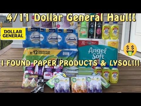 Dollar General Haul 4/11 + BIG Savings On Paper Products!! + Dollar General Couponing + DG Scenarios