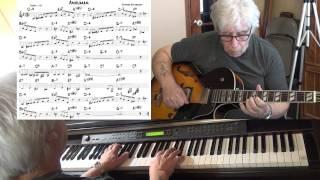Anouman - Jazz guitar & piano cover ( Django Reinhardt ) Yvan Jacques