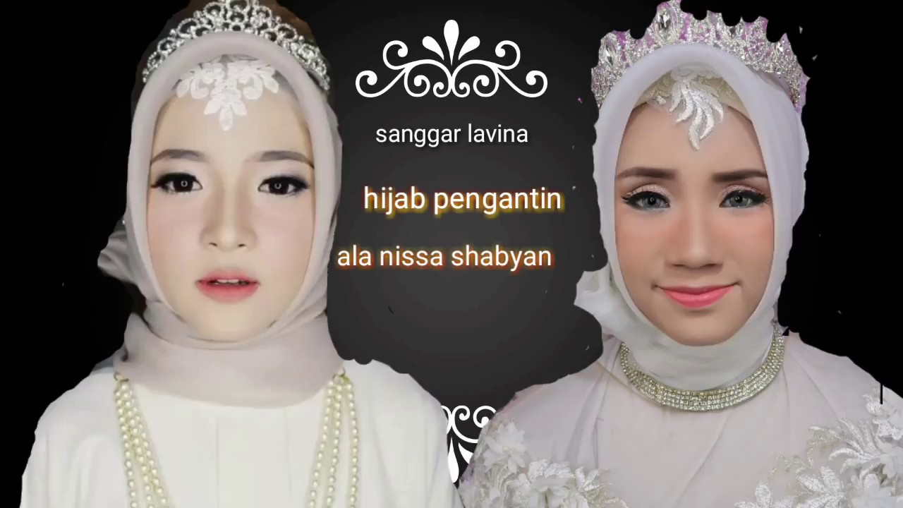 tutorial hijab pengantin ala nissa sabyan simple - youtube