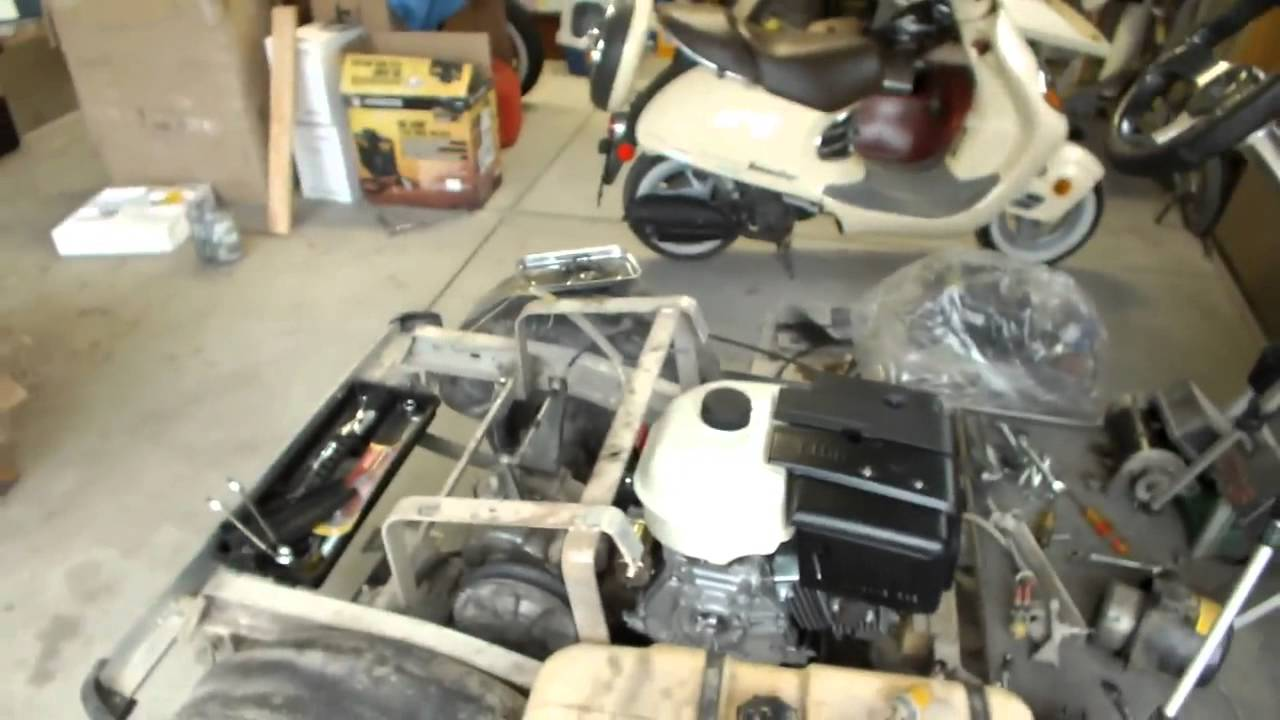 club car gx420 engine swap dropping in the new engine youtube