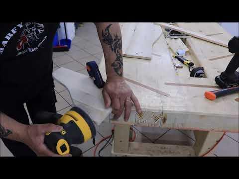Divanetto in legno riciclato per Chihuahua  Recycled wood sofa for Chihuahua do-it-yourself