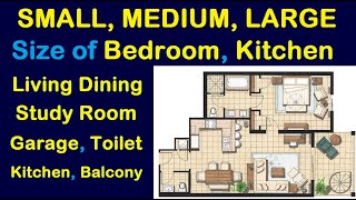 Standard - Small, Medium, Large Size of Bedroom | Living Dining | Kitchen | Garage | Toilet, Balcony