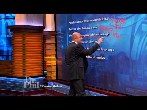 Dr. Phil Warns Cyberbullies about Possible Legal Consequences Mp3