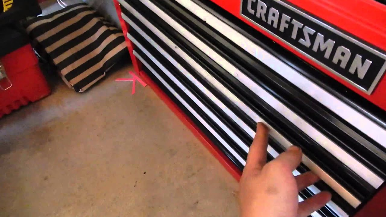 Craftsman 6 Drawer Rolling Cabinet Craftsman Ball Bearing Top Chest Review Youtube