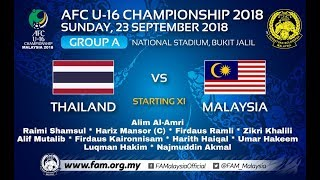MALAYSIA VS THAILAND U16 Full Match