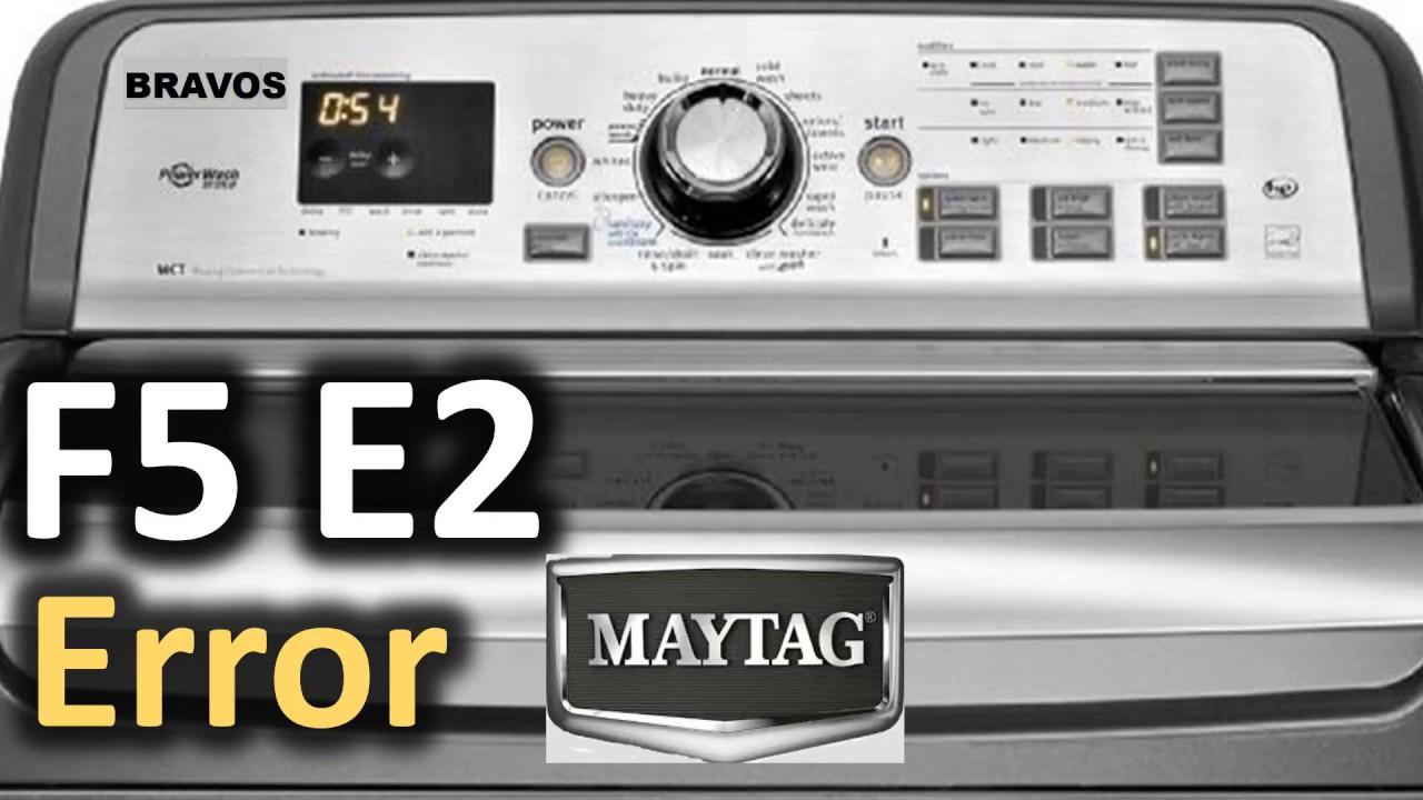 F5 E2 Error Code SOLVED!!! Maytag Bravos Top Load Washer Washing Machine