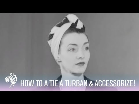 How to Tie a Turban: Womens Turban Fashions - 1942...