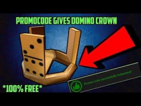 Roblox Free Fake Domino Crown Code Youtube