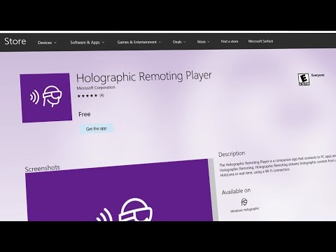 Microsoft HoloLens: Course 100 - Ch. 5 - Verify on Device from Unity Editor