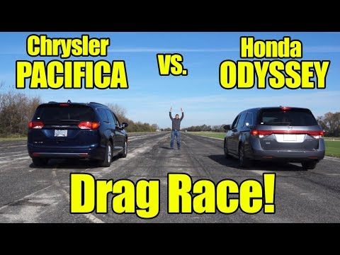 Honda odyssey vs chrysler pacifica drag race compare with for Chrysler pacifica vs honda odyssey