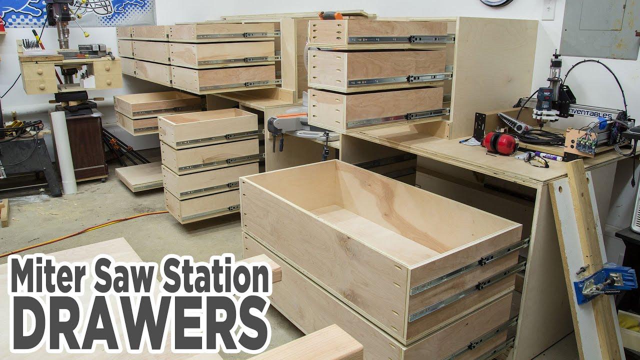 Miter Saw Station Storage Drawers 195 Youtube