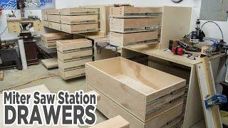 Miter Saw Station Storage Drawers - 195