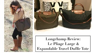 Longchamp Review: Le Pliage Large Shoulder & Le Pliage Expandable Travel Duffle Tote