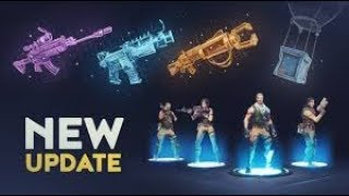 NEW UPDATE 1 32 in FORTNITE BATTLE ROYALE! New Guns, Map, Skins + Much MORE
