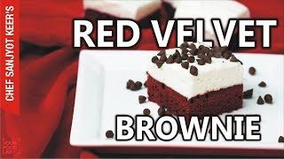 Red Velvet Brownie with Cheesecake Frosting