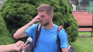 Marek Jaloviec po prohře ve finále na turnaji Futures v Ústí n. O.