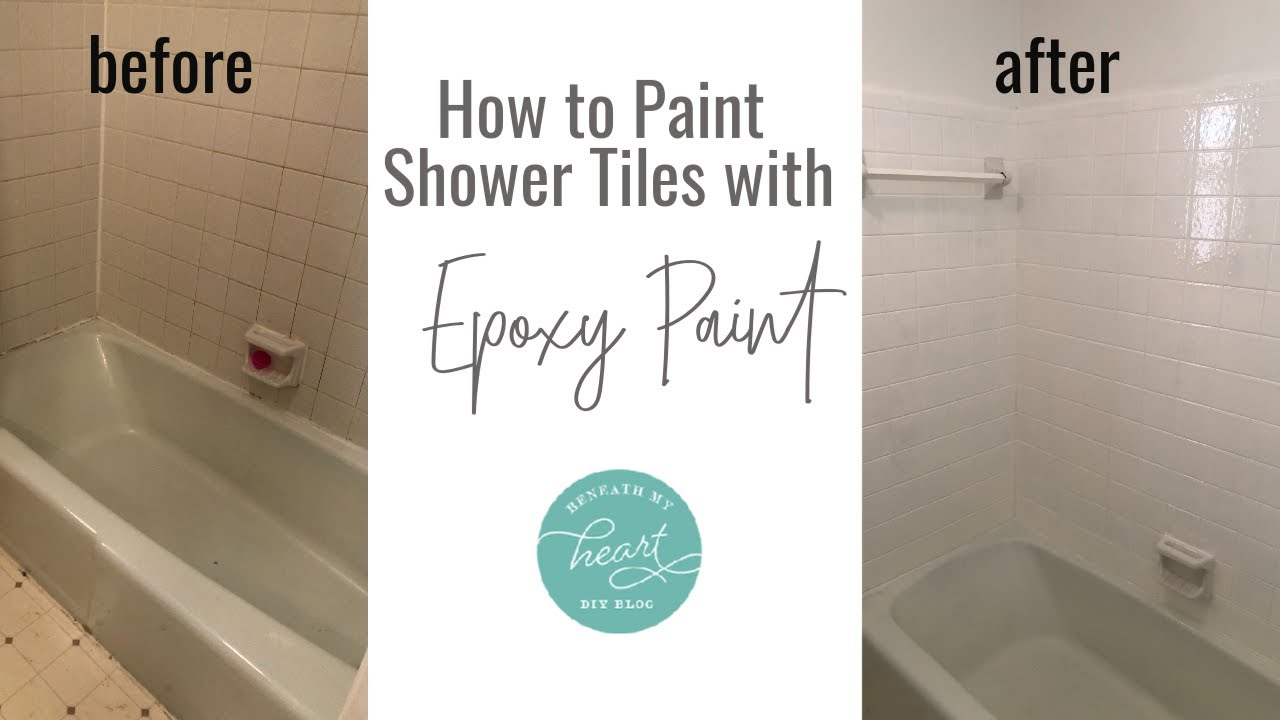 how to paint shower tiles with epoxy paint