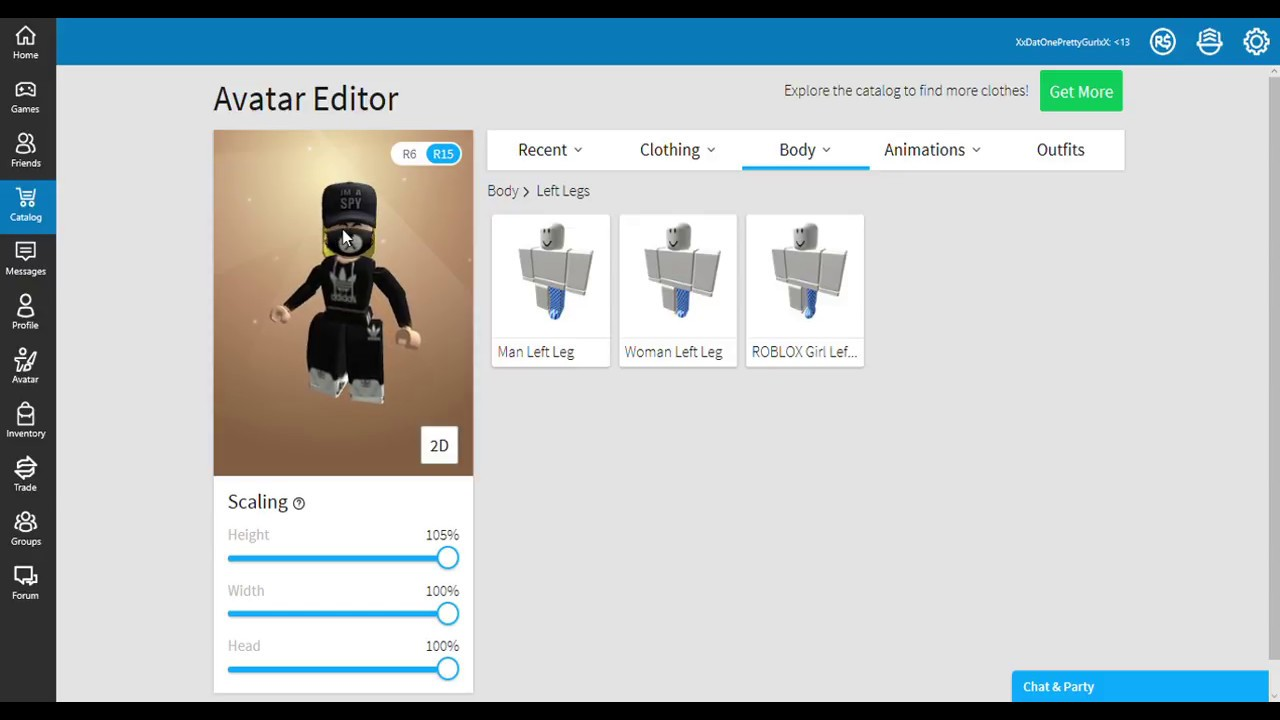 How To Get Big Legs On Roblox For Girls Youtube