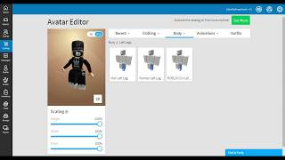 How to get big legs on Roblox for girls!