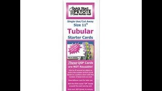 Giveaway Winner Announced! Quick Start Card for Tubular Peyote