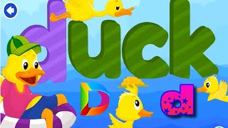 Learn Letters Sound D For DUCK ????Learn Alphabets ABC ???? ABC SONG NURSERY RHYMES FOR KIDS ???? KidoGarden