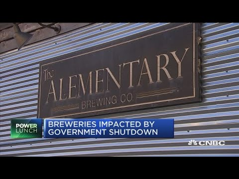Breweries get hit by government shutdown